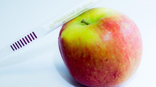 Apfel-Zahnbuerste